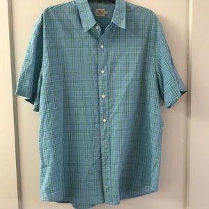 Faherty Men's Plaid short sleeve button down shirt